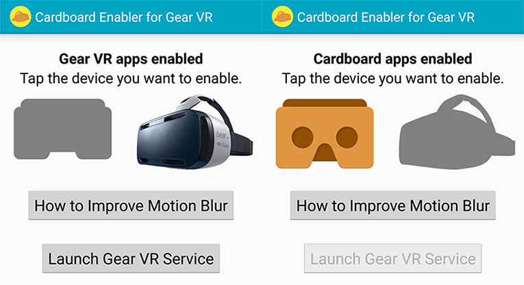 How to play Google Cardboard apps on Gear VR - VR headsets 3D